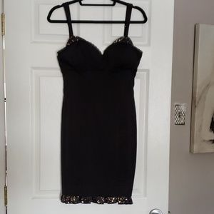 Guess black and gold thick satin dress